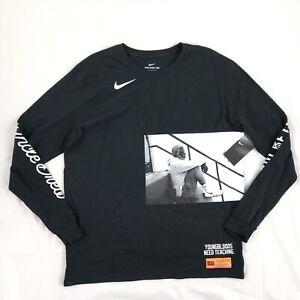 70478802 Nike Kyrie Irving Uncle Drew Long Sleeve Shirt Black BQ6214-010 ...