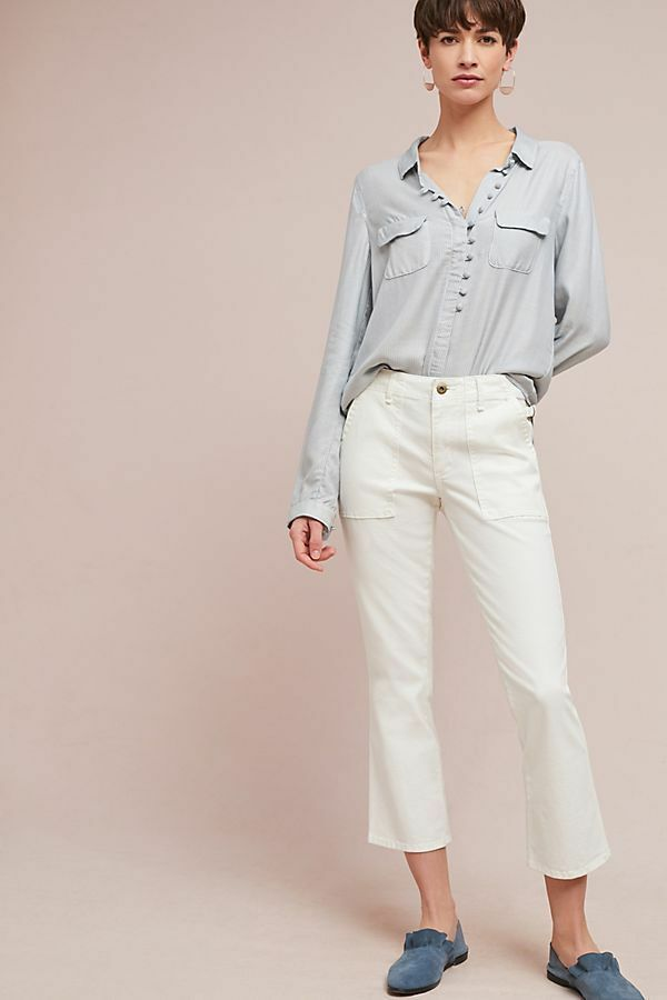 Anthropologie Utility Cropped Bootcut Pants Size 32 X 26 NWT