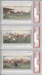 1924-CH-Gartmann-Chocolates-6-Card-SOCCER-PSA-Graded-Set
