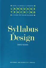 Syllabus Design by David Nunan (1988, UK-Paperback)