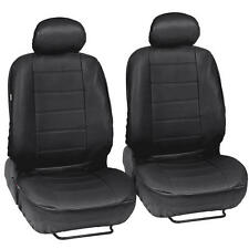 ProSynthetic Black Leather Auto Seat Covers for Honda Civic Sedan Coupe