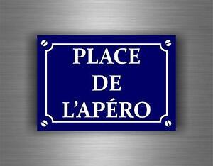 Autocollant-sticker-decoration-place-de-l-039-apero-bistrot-mural-plaque-rue