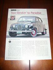 1961 SAAB 96 2 STROKE  - ORIGINAL 2006 ARTICLE