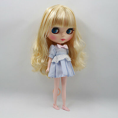 12 Neo Blythe Doll from Factory Nude Doll Purple Long