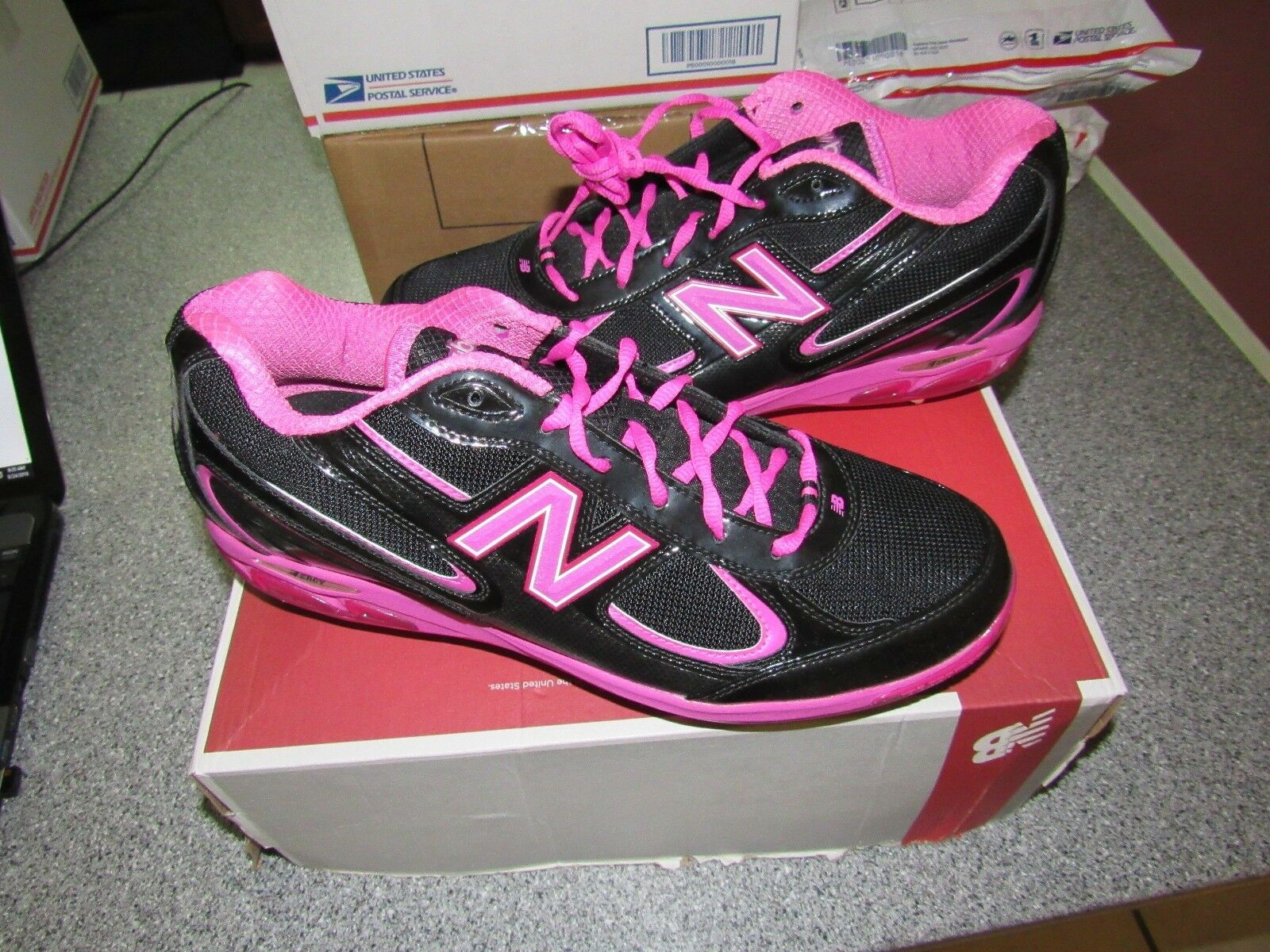 NIB NEW BALANCE 1103 MOTHERS AWARENESS DAY GAME BREAST CANCER AWARENESS MOTHERS BASEBALL CLEATS 5b978d