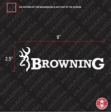 2X BROWNING HUNT car sticker vinyl decal