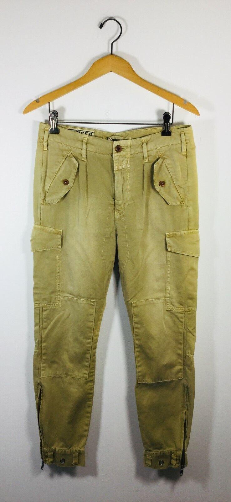 CLOSED Khaki Size 40 Zoe Skinny Leg Cargo Pant