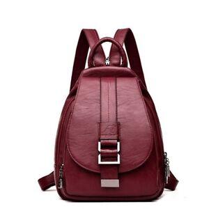 7a4d494e67ff Image is loading 2018-Women-Leather-Backpacks-Vintage-Female-Shoulder-Bag-