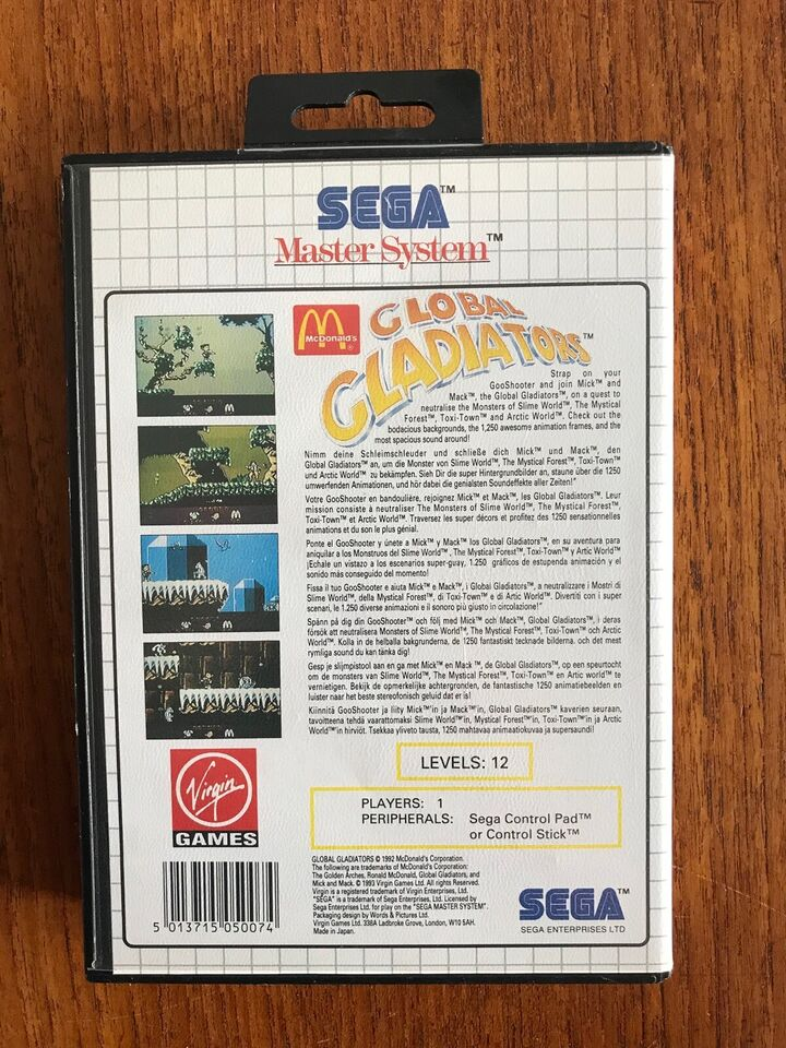 Mc Donald's Global Gladiators, Sega Master System