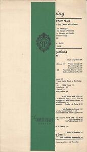 1940s 'Town Room' at COPLEY PLAZA Boston Massachusetts Breakfast Restaurant Menu
