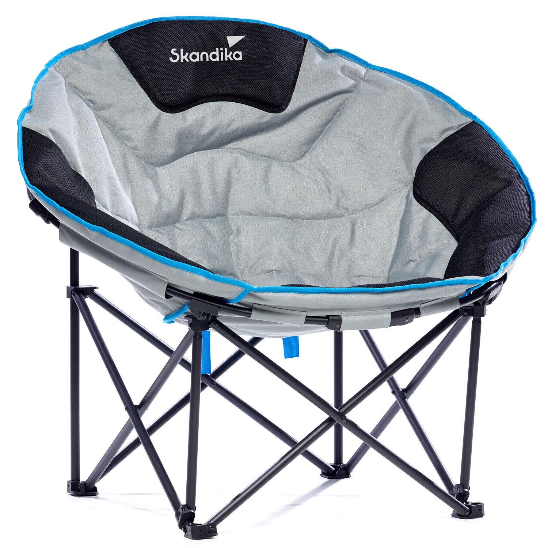 Skandika Moonchair Deluxe L Siège Fauteuil Camping Pliant Max. 120 kg NEUF