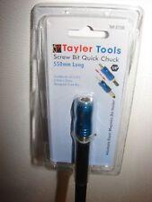 "Tayler Tools 550mm Screwbit Magnetic Quick Chuck 1/4"""