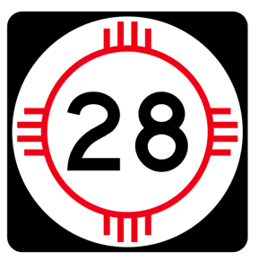 New Mexico State Road 28 Sticker R4125 Highway Sign Road Sign Decal