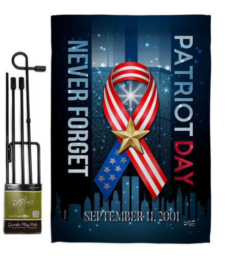 911 Never Forget Garden Flag Armed Forces Service Decorative Yard House Banner