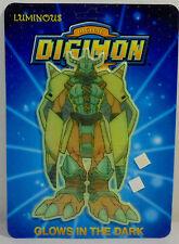 DIGITAL DIGIMON MONSTERS VTG 1999 WARGREYMON WALL STICKER GLOWS IN THE DARK MOSC