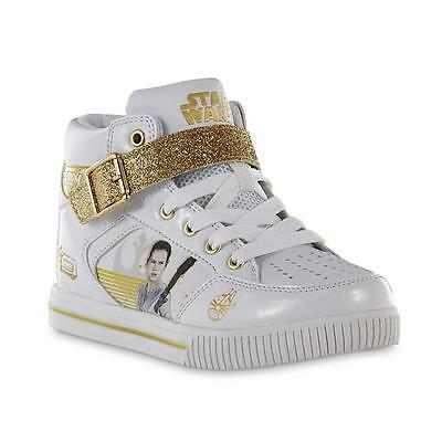 Star Wars Rey Sneakers Size 1 or 6 Force Awakens Gold Glitter
