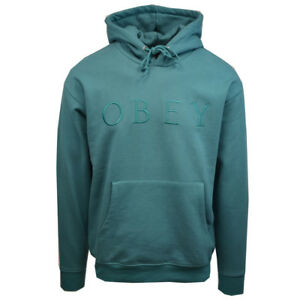 Obey-Men-039-s-Turquoise-Construct-L-S-Pull-Over-Hoodie-Retail-68