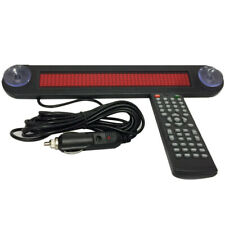 12v Car Red Led Programmable Message Sign Scrolling Display With Remote Controller