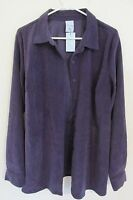 Women's Cascade Blues Long Sleeve Button-up Blouse Size Large Violet Purple