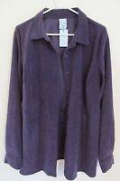 Women's Cascade Blues Long Sleeve Button-up Blouse Size Large Violet Purple