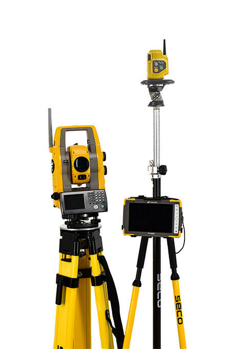 """Topcon PS-103A 3"""" Robotic Total Station w/ FC-6000 Tablet & Pocket-3D Software"""