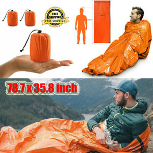 Emergency-Sleeping-Bag-Thermal-Waterproof-For-Outdoor-Survival-Camping-Hiking-IL