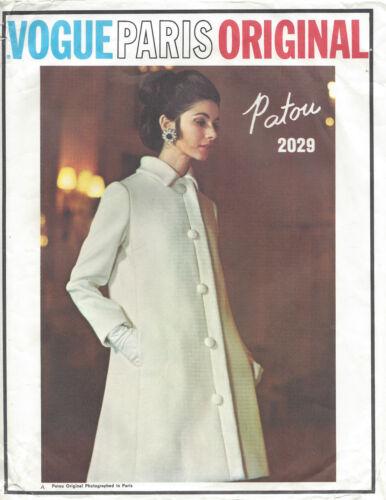 /'Patou/' 1397 1968 Vintage VOGUE Sewing Pattern B38 COAT /& DRESS