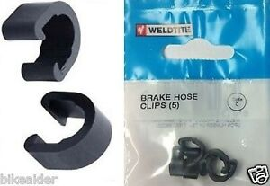 Weldtite-5-x-C-Clips-Bike-Brake-Cable-Housing-Guides-Hose-Frame-Reusable-Tidy
