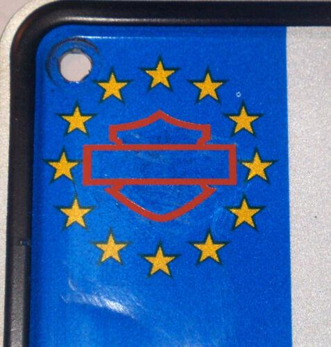 Aufkleber Euro Kennzeichen Motiv Shild schwarz orange transparent Sand