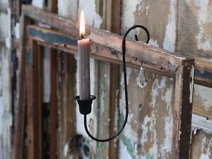 Chic-Antique-Altfranzoesischer-Kerzenhalter-Leuchter-Prisma-Shabby-Nostalgie