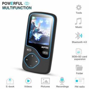 AGPTEK-Bluetooth-4-0-MP3-Player-8GB-1-8-Zoll-Bildschirm-unterstuetzt-128GB-FM