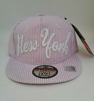 York Ny Embroidered Fitted Baseball Cap Hat City Hunter Purple Medium