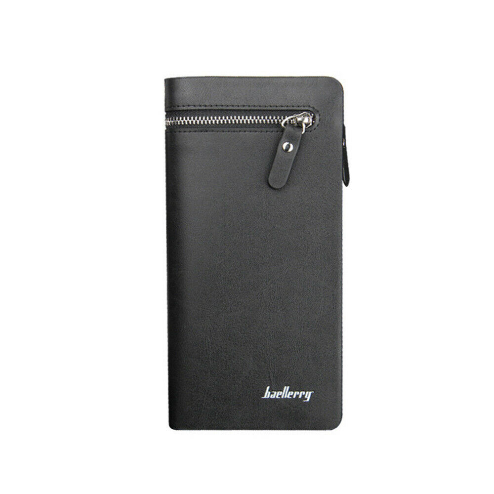 1pc Wallet Lightweight Portable Leather Wallet Zipper Purse Card Storage for Man