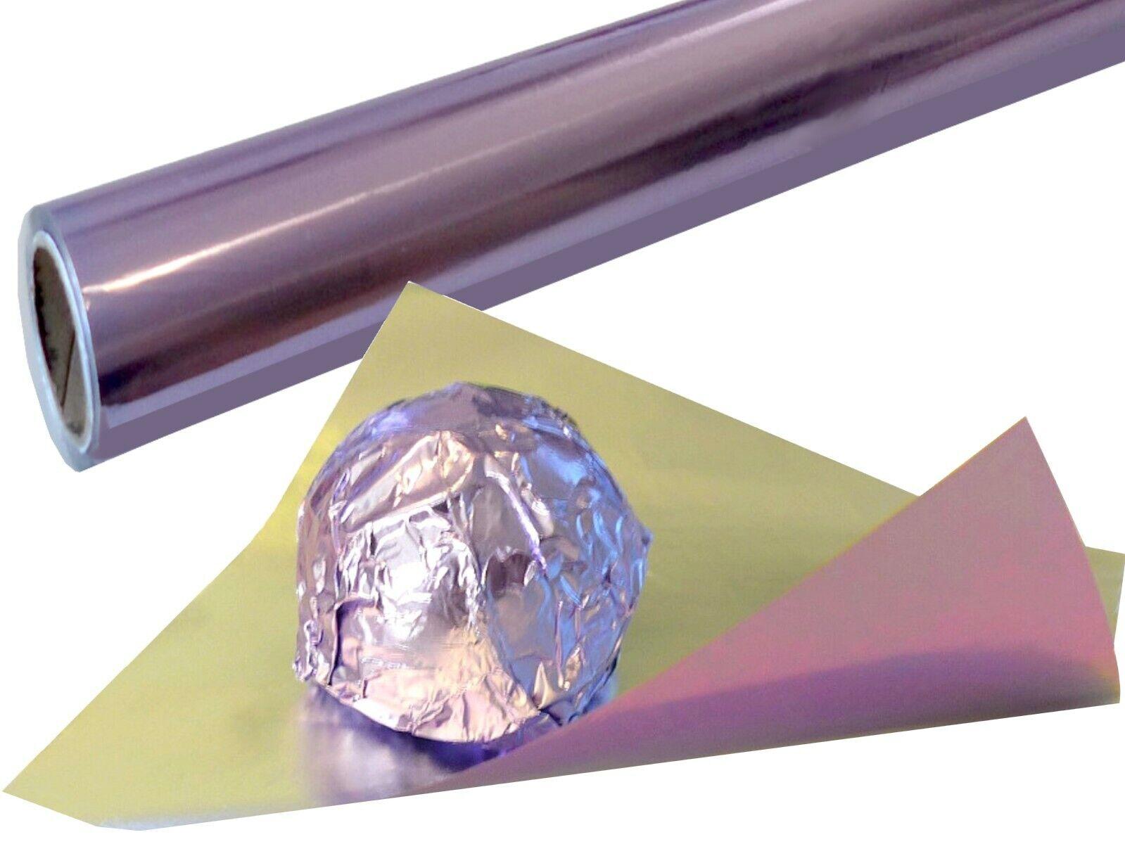púrpura Einwickelfolie Rollo 65m Colorido Papel Aluminio F. Chocolate Pralinenfolie