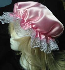 viktorianisch mop kappe kindergröße kostüm satin bonnet kappe hut pink salon