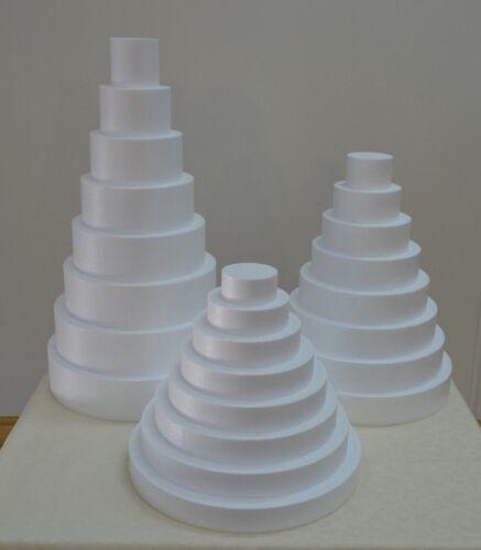 2 x 4 à secteurs-mythologique//8-set Ø 25//20//15//10 hauteur 5 factice Cake environ Polystyrène vitre