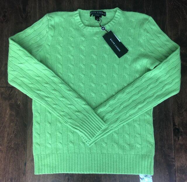 Ralph Lauren Black Label Slim Fit 100 Cashmere Sweater Sz L
