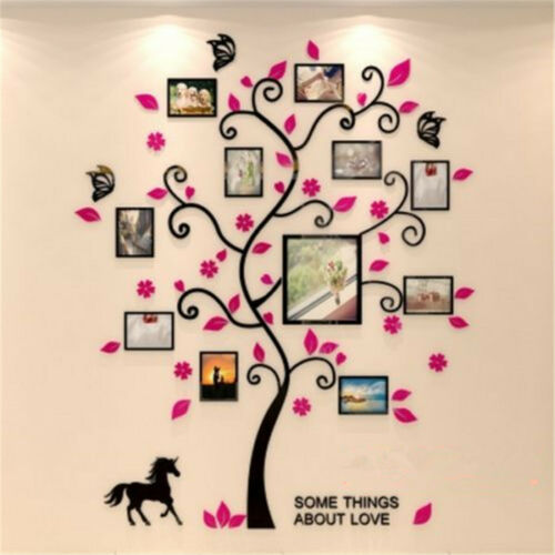 DIY Removable Family Photo Frame Tree Sticker Room Sticker Wall Xmas Decor