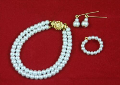 "Double Pearl SET2 Jewelry w//14K Miss Revlon Cissy Toni 18/"" 20/"" 22/"" Fashion Doll"