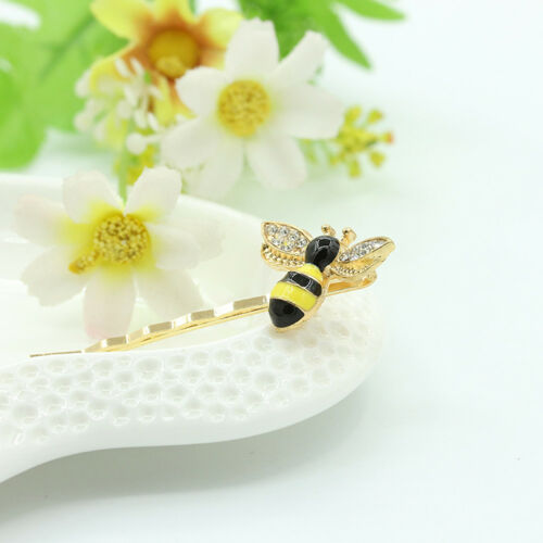 AM/_ Bee Rhinestone Inlaid Hair Clip Accessory Party Barrette Girl Sweet Hairpin