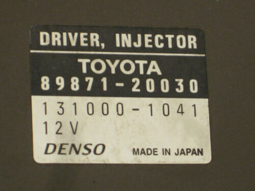TOYOTA RAV4//COROLLA 2.0 INJECTOR DRIVER 89871-20030 131000-1041