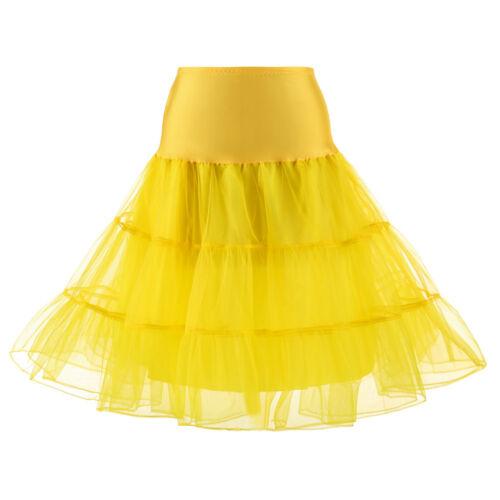 """26/"""" Retro Net Underskirt 50s Swing wedding Petticoat Rockabilly Fancy Skirt Tutu"""