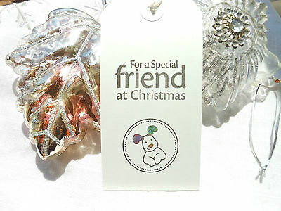 10 Handmade  The Snowdog Special Friend Christmas Gift Tags White Tags