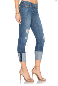 NWT HUDSON MUSE Cropped Skinny Jeans w  cuff - Size 29 BRAND NEW - HUSTLE - SOFT