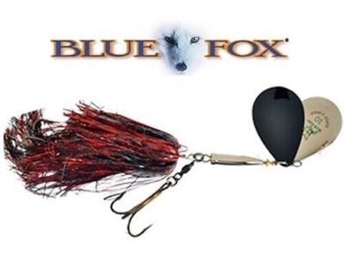 BLUE FOX      SUPER VIBRAX    MUSKY  #10    TWIN TURBO        Black Flash