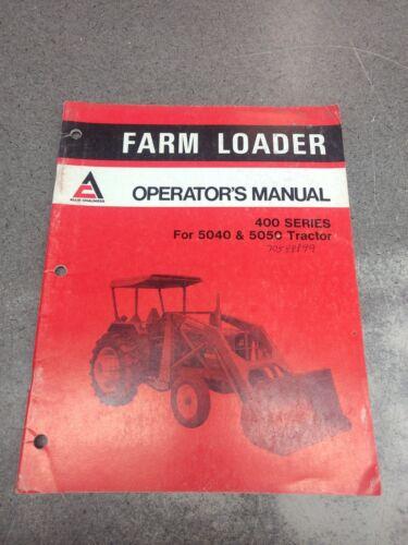ALLIS CHALMERS 400 SERIES LOADER OPERATOR/'S MANUAL 70588899