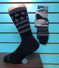Black LG Darn Tough Stars//Stripes Micro Crew Ultra Light Men/'s Sock