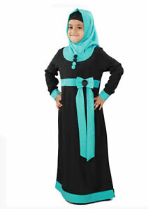 1c151fda0 Muslim Kids Girl Islamic Long Maxi Dress Gown Dubai Abaya Prayer ...