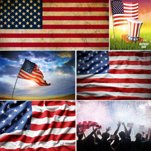 Details about Independence Day Backdrops July 4th American Flag Stripes  Photography Background