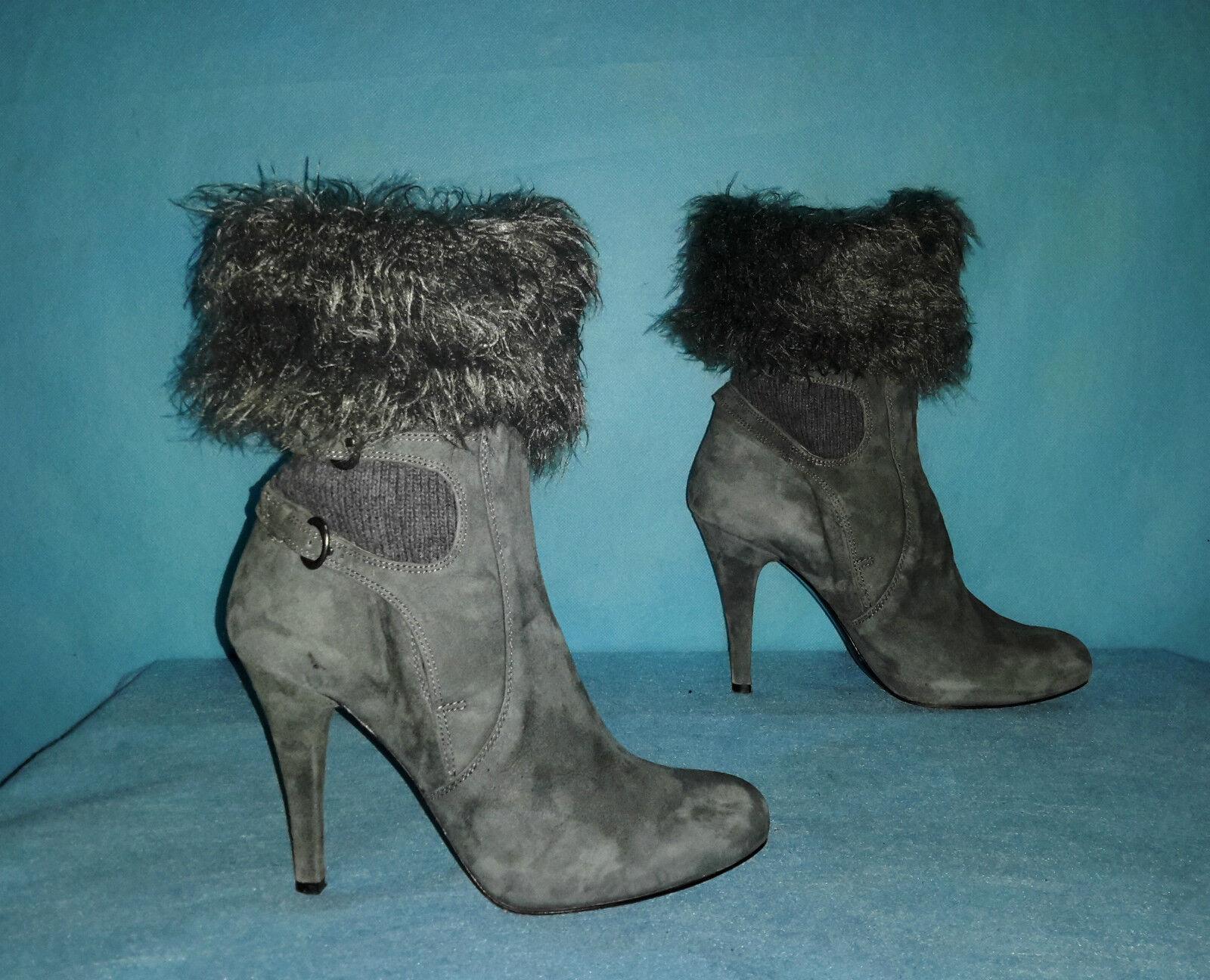 bottines boots FRANCESCO MORICHETTI en cuir et laine p 37 fr tres bon etat